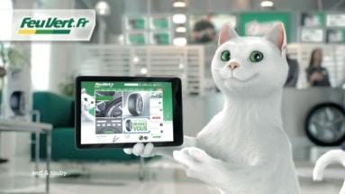 Publicité Feu vert avec un exemple de digitalisation