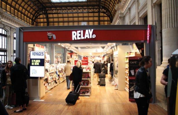 Photo du magasin Relay du hall principal de la Gare Saint-Jean de Bordeaux sur lequel est intervenu Multies by BRUNET.